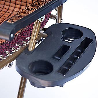 Folding Leisure Lounger Bottle Cup Holder Stand Fishing Chair Drinks Tray