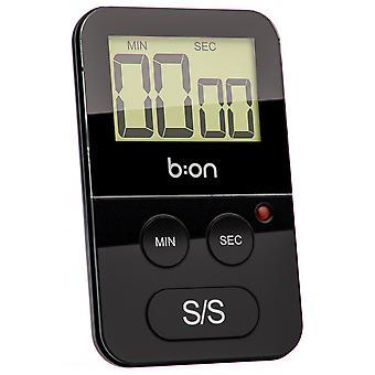 cooking timer digital magnetic ABS black
