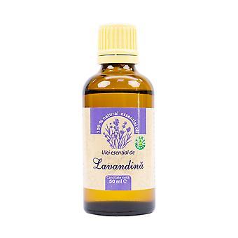 Lavendel æterisk olie (lavandula hybrida), 100% ren uden tilsætning, 50 ml