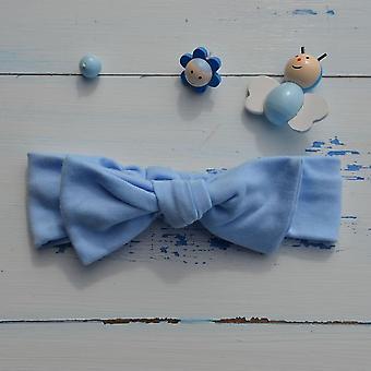 Faixa de cabelo de orelha de coelho azul pálido