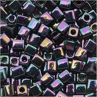 Miyuki 4мм Стеклянный куб Бусины 'Металлик Темная Слива Ирис' #454 10 Грамм