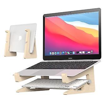 Suport laptop din lemn a crescut înălțimea de depozitare stand pentru MacBook 13 15 inch