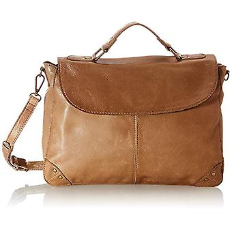 PIECES PCBETHANY Leather Large Cross Body, Women's Folder Bag, Toasted Coconut, One Size