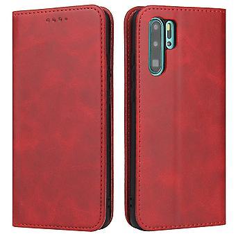 Flip folio skórzany futerał na huawei p20 lite czerwony pns-1499