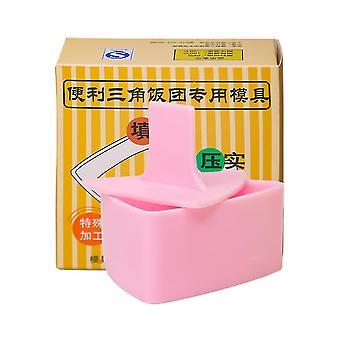 Överdimensionerad sushi mögel ris boll triangel sushi gör kit rosa