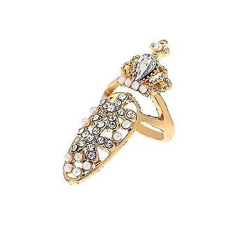 Femmes bowknot princesse couronne charme ongles anneau pour la fête pl-999