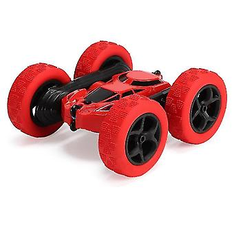 Red remote control double-sided tumbling and rotating four-wheel drive off-road car x2719