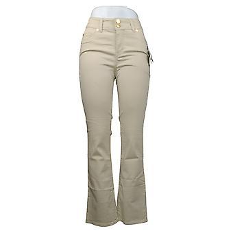 IMAN Global Chic Women's Jeans 360 Slim Bootcut Beige 685838110