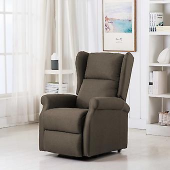 vidaXL massage sta-up stoel Taupe stof