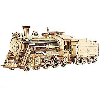 новый mc501 3d деревянный поезд модель головоломка игрушка сборка локомотив строительные комплекты sm47327