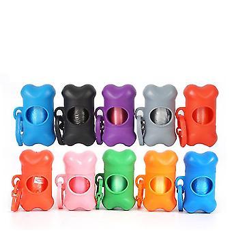 Bärbar sopsäck förvaringslåda sopsäck dispenser (Grå)