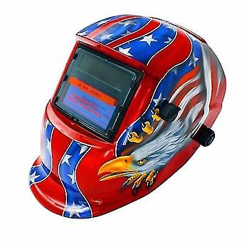 Solar Powered Welding Helmet Auto Darkening Hood Adjustable for Mig Tig Arc Welder Mask Electric