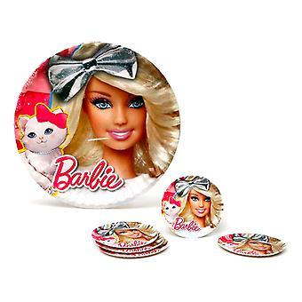 Plate set Barbie (5 Pcs) (ø 23 cm)