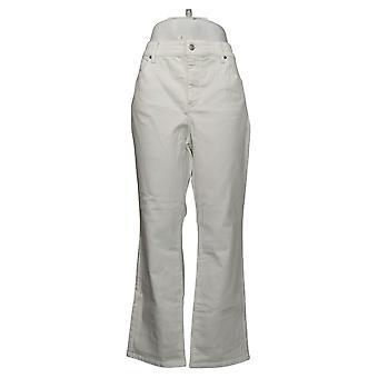 NYDJ jeans femeninos Petite Marilyn Straight Uplift Blanco A395678