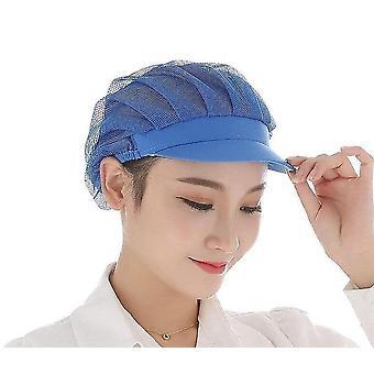 Capace elastice pentru viziere cu ochiuri, pentru bărbați și bărbați Femei respirabil Workshop Hat (Full Net Cap Dark Blue)