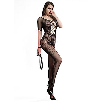 Sexy lingerie open crotch body stocking mesh bodysuit stockings temptation sexy suit for lady