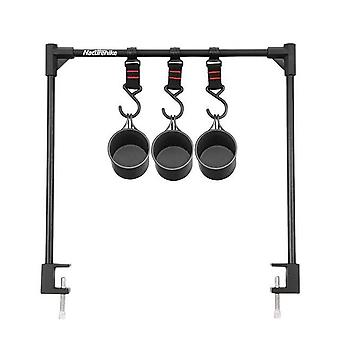 Camping storage rack hanging rack camping storage rack aluminum alloy outdoor picnic holder with hooks bearing outdoor cookware