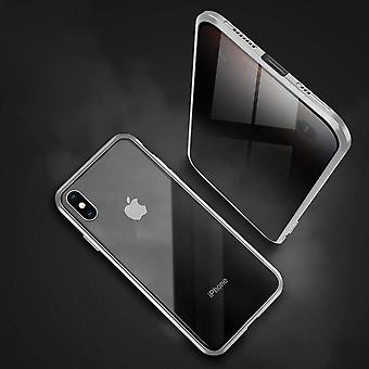 Iphone 11 Black Magnetic Privacy Phone Case With Metal Bumper