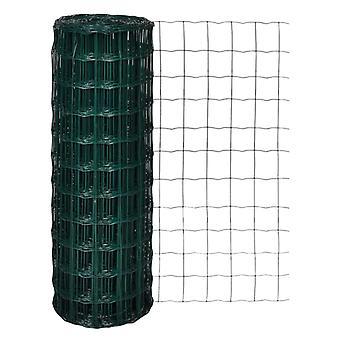 vidaXL يورو سياج الصلب 10 × 1,7 م الأخضر
