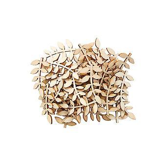 40 Bois 35mm Vine Leaves Papercraft Embellissements | Fournitures de fabrication de cartes