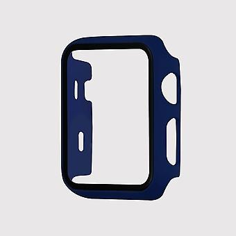 Tempered glass apple watch protective case, blue (42mm)