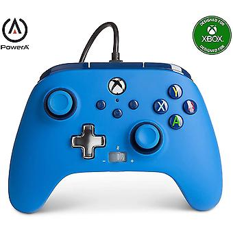 Enhanced Wired Controller for Xbox - Blue, Gamepad, Wired Video Game Controller, Gaming Controller,