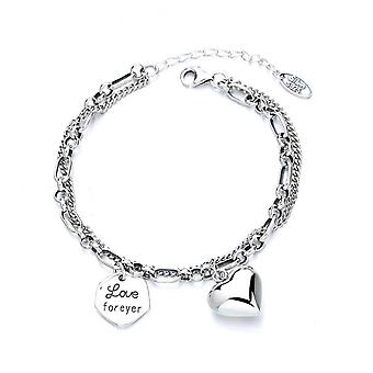 H45 S925 Sterling Silver Ladies Retro Round Brand Bracelet Simple And Versatile Fashion Jewelry