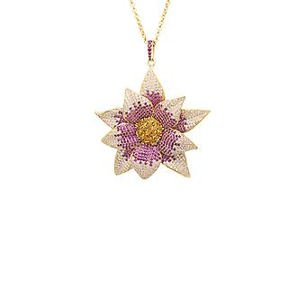 Daisy Flower Necklace Pink