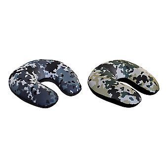 Oreiller de cou DKD Home Decor Travel Camouflage (2 pcs) (30 x 30 x 8,5 cm)