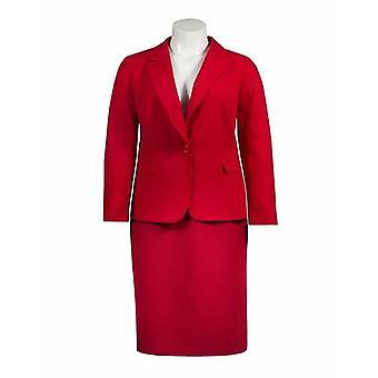 Crepe Skirt Suit Set
