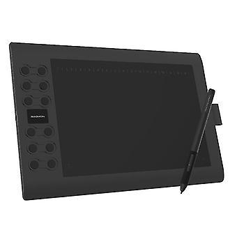 Tablette de dessin graphique avec 8192 niveaux Tilt pris en charge stylet sans batterie