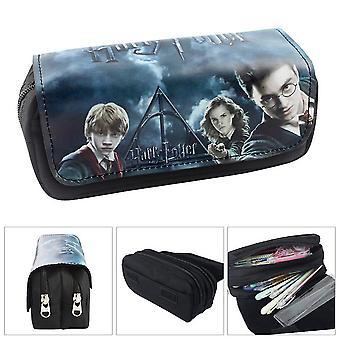 Custodia a doppia matita per bambini di Harry Potter grande capacità (colore-1)