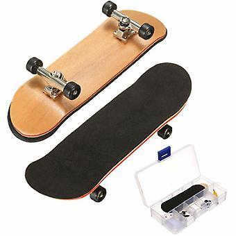 Ahorn Holz FingerBoard Mini Finger Boards Sport Skateboard Schwarz Lager Räder Kinder Spiel Geschenk