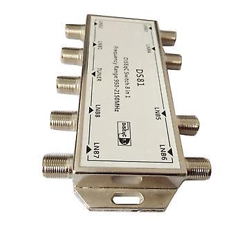 Ds81 8 En 1 Commutateur de diseqc de signal satellite Lnb Récepteur Multiswitch