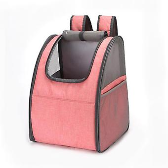 Mimigo Pet Backpack Foldable Cat Backpack Carrier Mesh Ventilation Breathable For Small Cats Puppies Dogs Bunny, Designed For Travel, Hiking, Walking