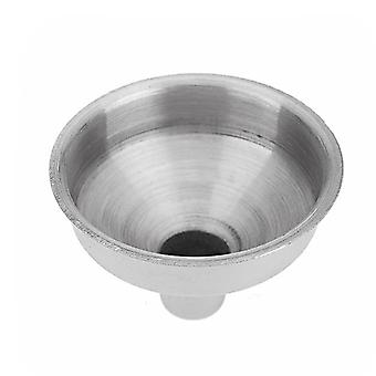 Portable 8mm Stainless Steel Funnel For All Hip Flasks Flask Filler Wine Pot (silver)