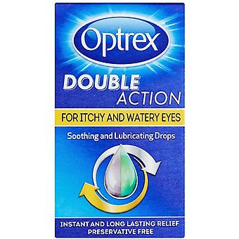 Optrex Double Action Drops for Itchy and Watery Eyes 10ml