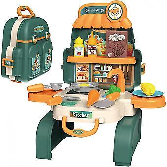 Sac à dos Cuisine ensemble pour les enfants, 3 en 1mini Cuisine Faire semblant de jouer aux jouets