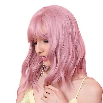 Pink Smoke Cute Bobo Short Curly Wig