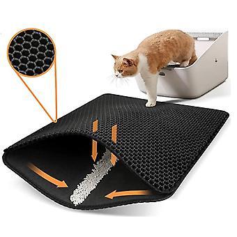 Katzenstreu Fangmatte Wabe Doppelschicht Design Urin und wasserdichtes Material waschbar