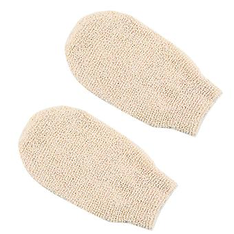 Naturel Bain en fibre de bambou Exfoliating Gant Nettoyant gants De Bain Gants de bain
