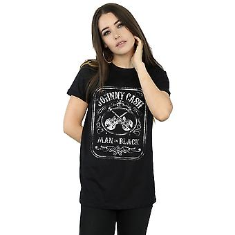 Johnny Cash Women's Man In Black Label Boyfriend Fit T-Shirt