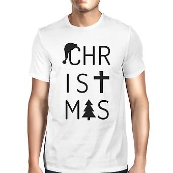 Christmas Letters Gift T-Shirt For Men Unique Christmas Graphic Tee