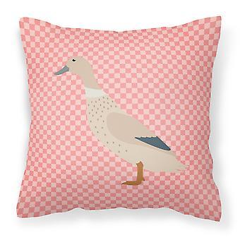 Vérifier la West Arlequin rose tissu oreiller décoratif