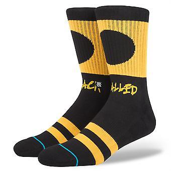 Stance Mens Socks ~ Black balled