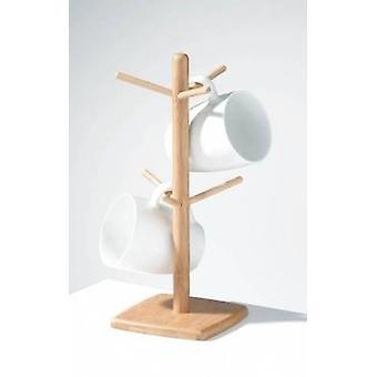 Bamboo 6 Cup Mug Tree