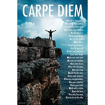 Carpe Diem - alfabeto Poster Poster Print