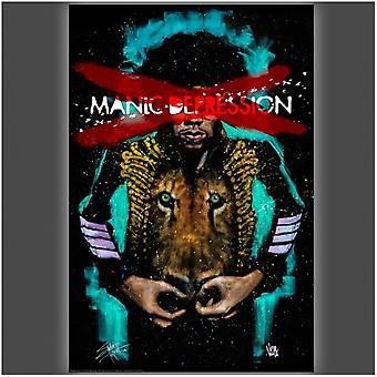 Jimi Manic Depression Poster Poster Print by Stephen Fishwick