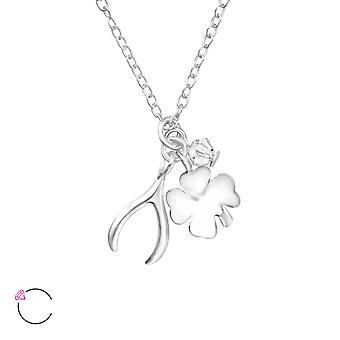 Lucky crystal de charme de Swarovski® - 925 Sterling Silver Necklaces - W32726X