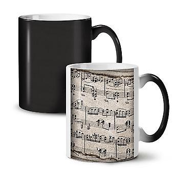 音楽キー ノート ティーを変更する新しい黒い色コーヒー セラミック マグカップ 11 オンス |Wellcoda
